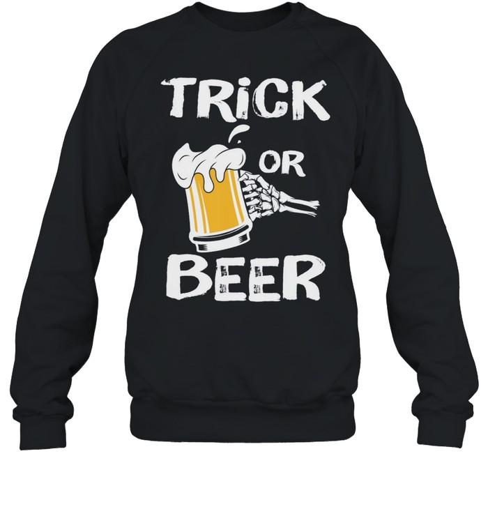 Halloween Beer Trick or Treat shirt Unisex Sweatshirt