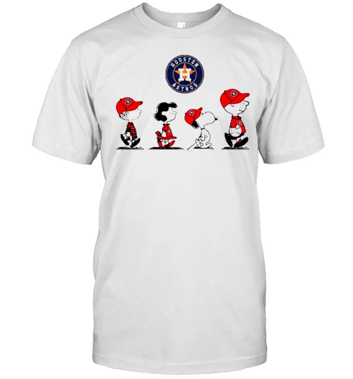 Houston Astros The Peanut Character Charlie Brown And Snoopy Walking shirt Classic Men's T-shirt