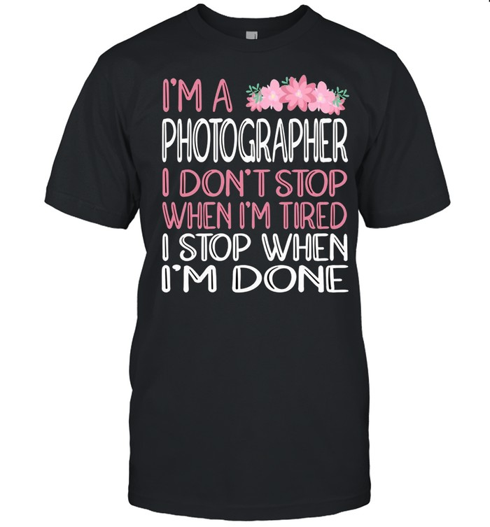 When We're Done Photographer shirt Classic Men's T-shirt