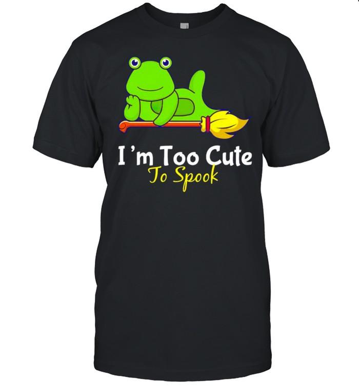 Frog I'm too cute to spook shirt Classic Men's T-shirt