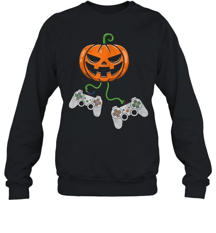 Halloween Video Game Controller Pumpkin shirt Unisex Sweatshirt