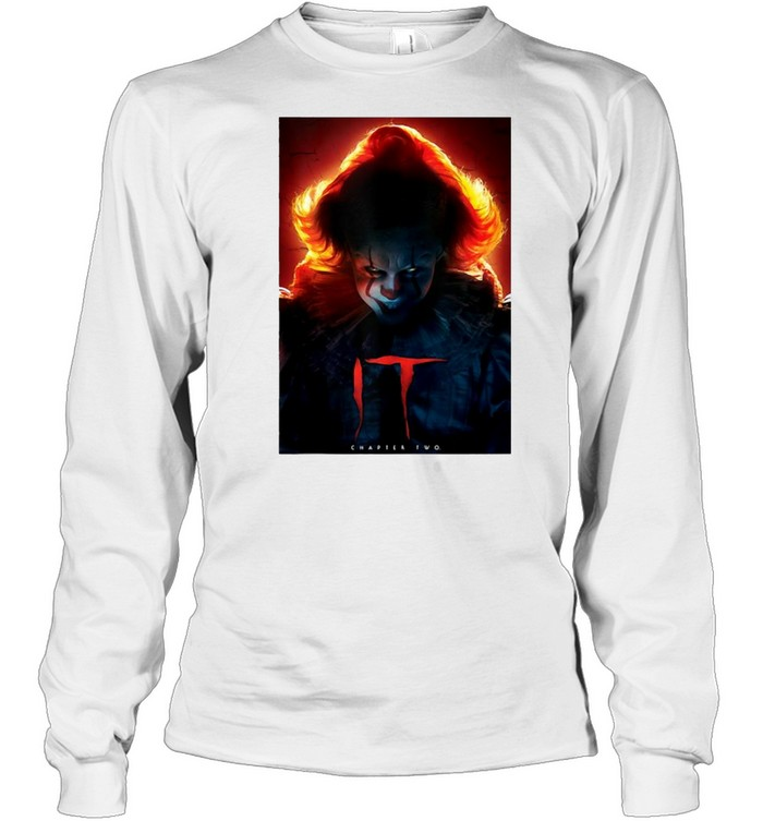 It Chapter Two Pennywise Glow Poster T-shirt Long Sleeved T-shirt