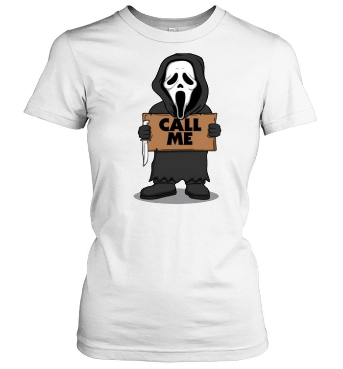 Ghostface call me Halloween T-shirt Classic Women's T-shirt
