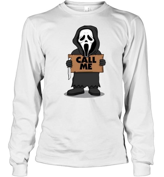 Ghostface call me Halloween T-shirt Long Sleeved T-shirt