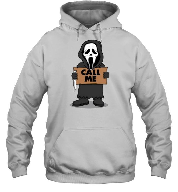 Ghostface call me Halloween T-shirt Unisex Hoodie