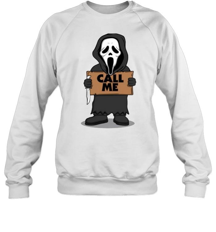 Ghostface call me Halloween T-shirt Unisex Sweatshirt