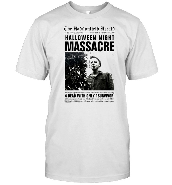 Michael Myers Headline Halloween Night Massacre T-shirt Classic Men's T-shirt