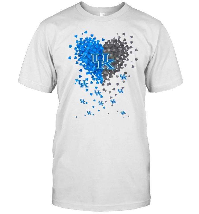 Heart Love Kentucky Wildcats  Classic Men's T-shirt