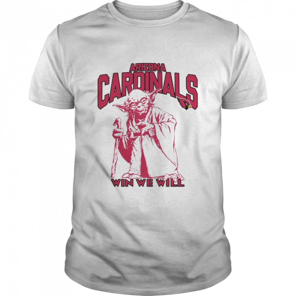 Arizona Cardinals Star Wars Yoda Win We Will T-shirt Classic Men's T-shirt