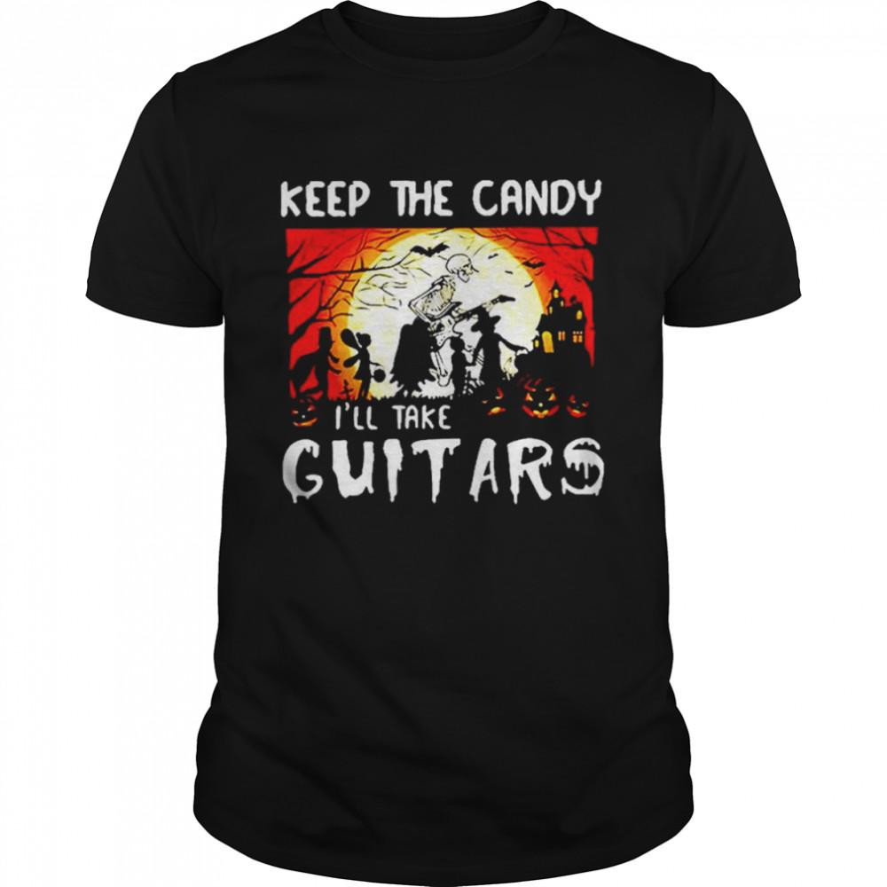 Keep the candy I'll take guitars cruella deville costume shirt Classic Men's T-shirt