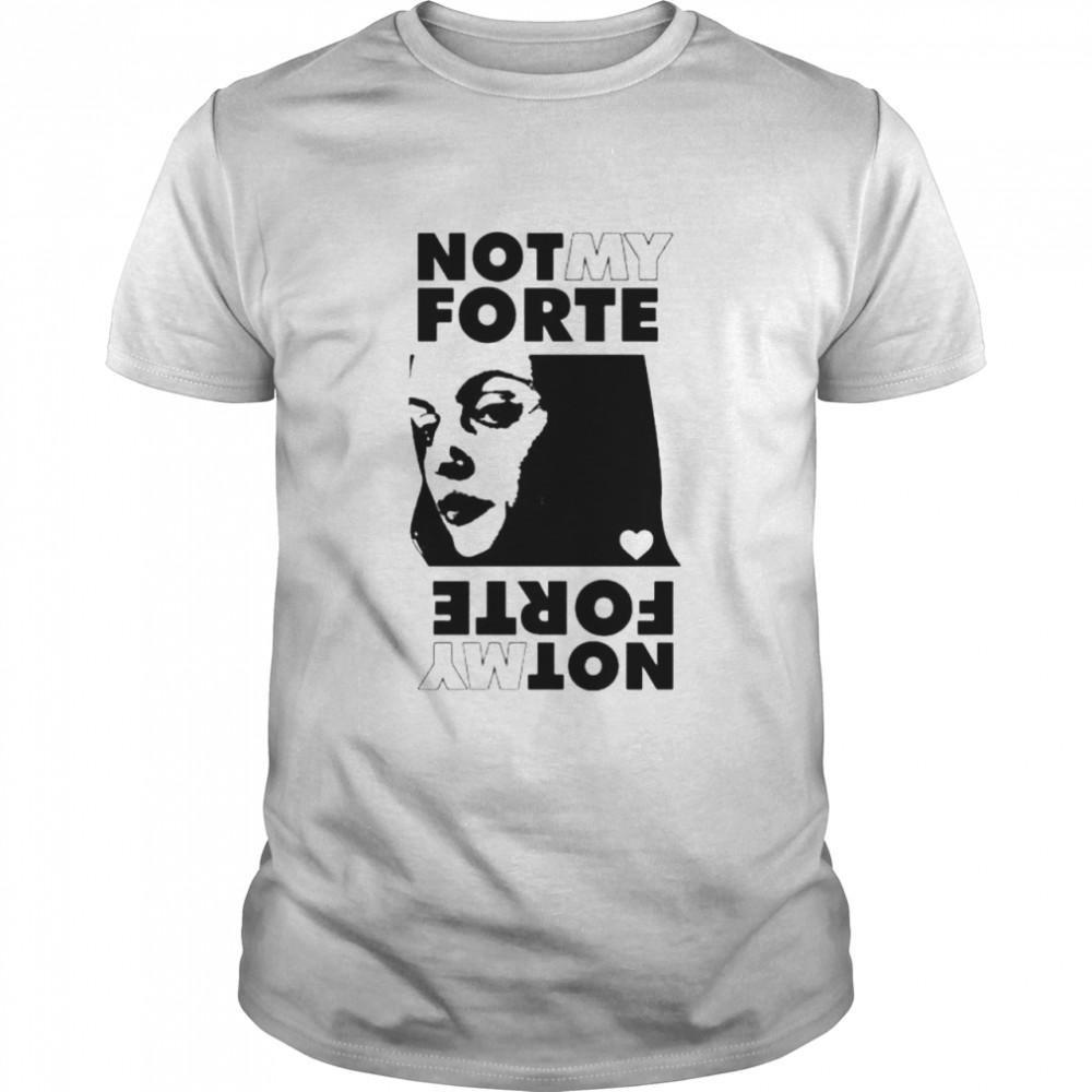 Not My Forte Rock Grey shirt