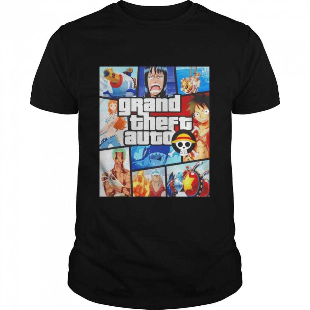 One Piece Grand Theft Auto shirt Classic Men's T-shirt
