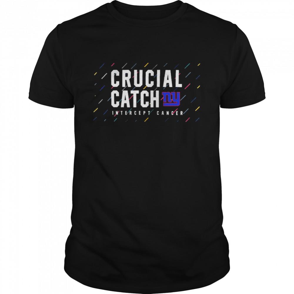 New York Giants 2021 crucial catch intercept cancer shirt Classic Men's T-shirt