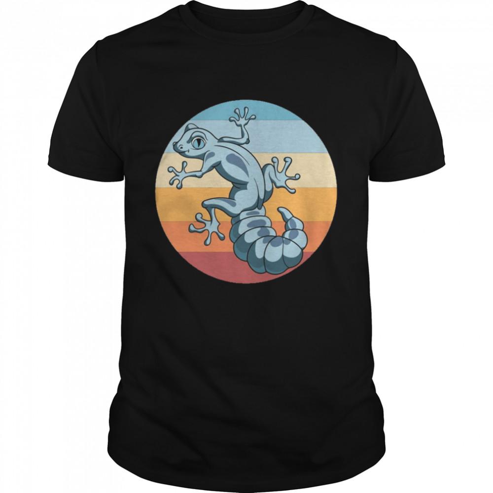 Tropical Lizard Reptile Animal Retro Gecko shirt Classic Men's T-shirt