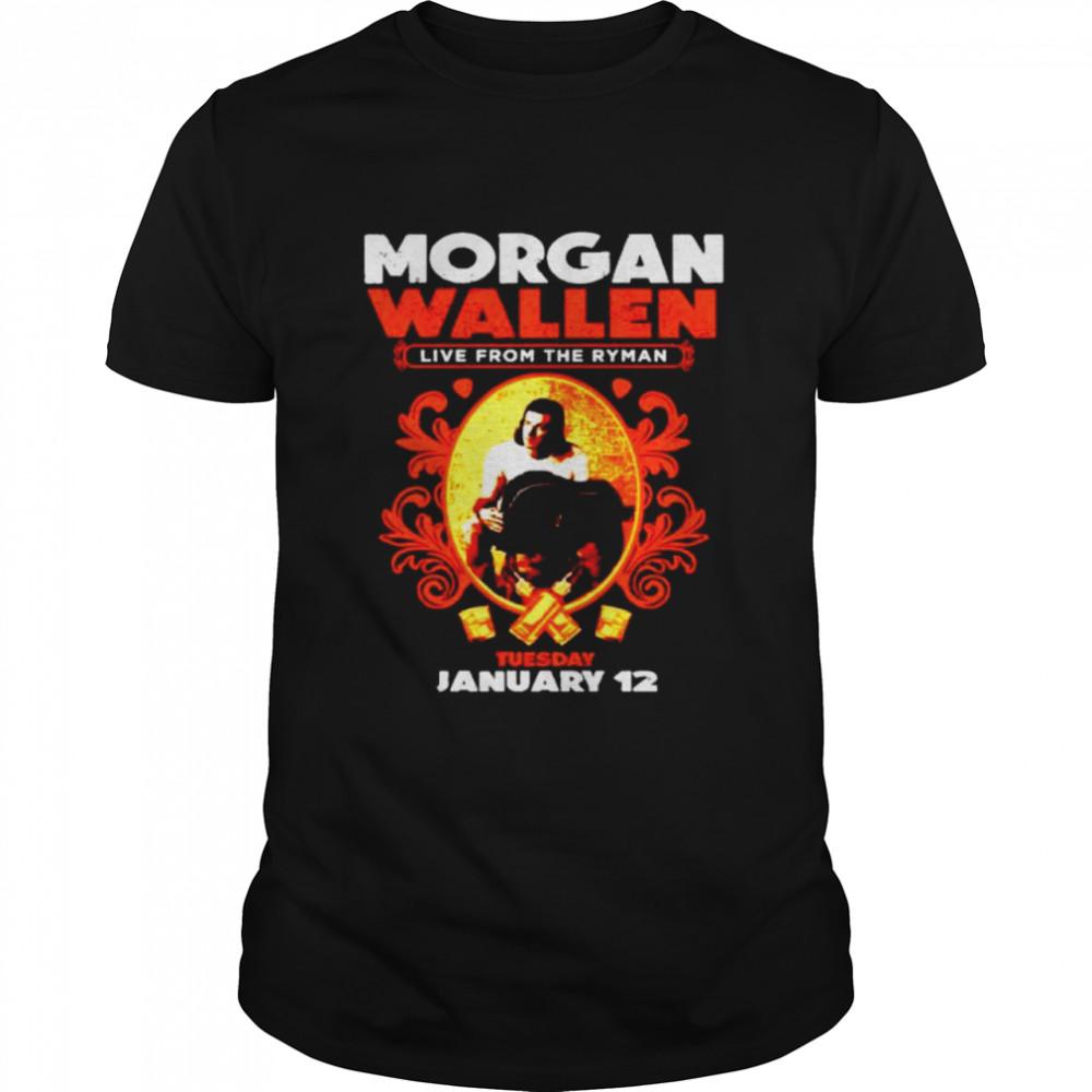 Morgan Wallen live from the ryman shirt