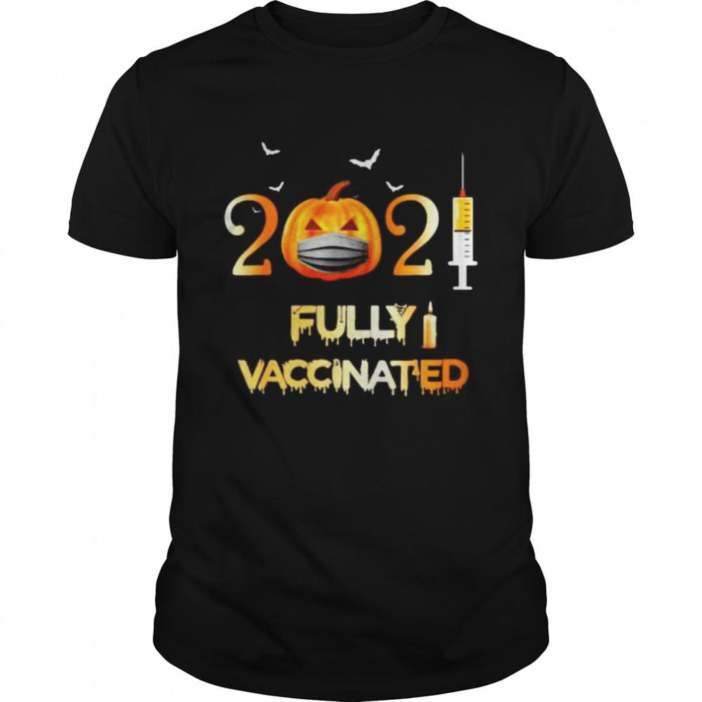Pumpkin 2021 fully vaccinated Halloween shirt Classic Men's T-shirt