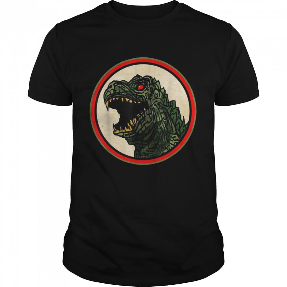 Dragon Anime Monster Gesicht für Cartoon Fans  Classic Men's T-shirt