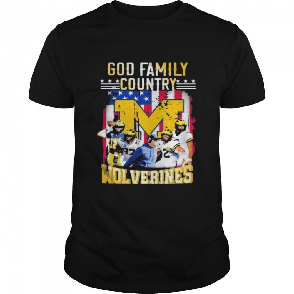 God family country Michigan Wolverines football shirt Classic Men's T-shirt