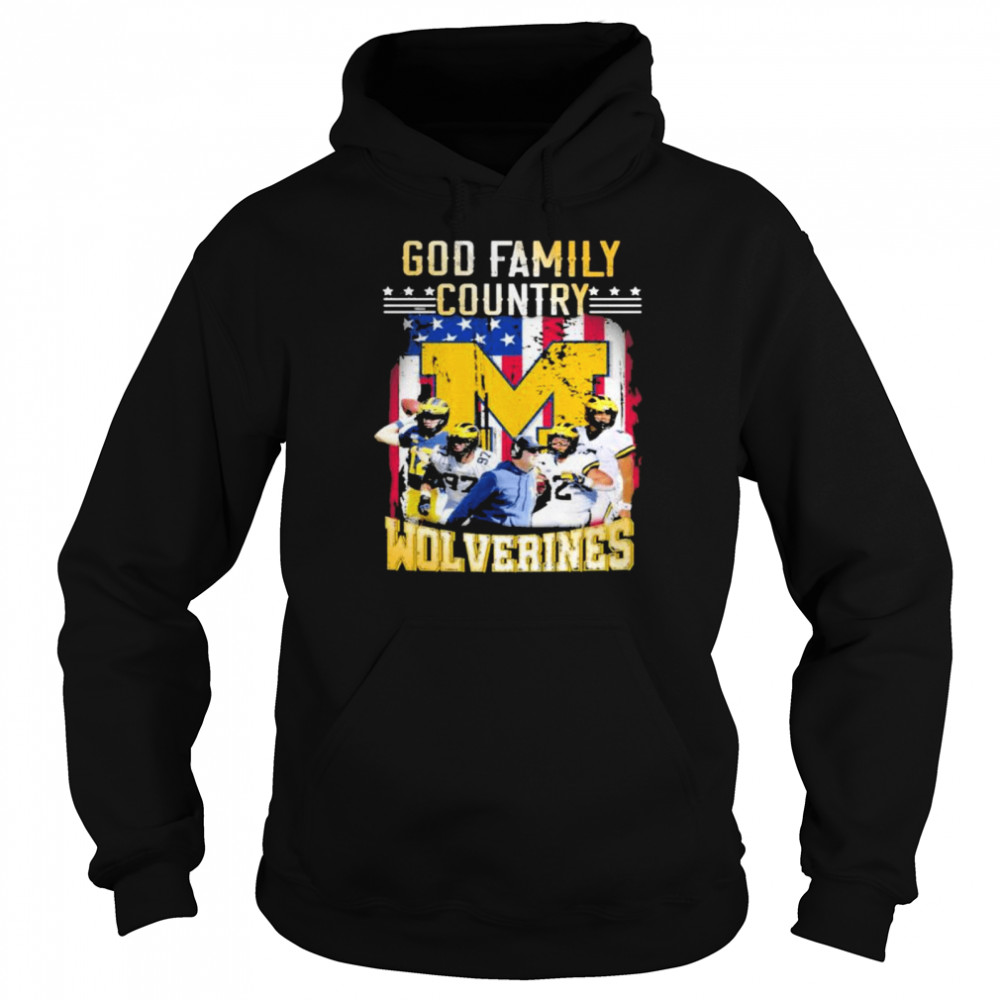 God family country Michigan Wolverines football shirt Unisex Hoodie