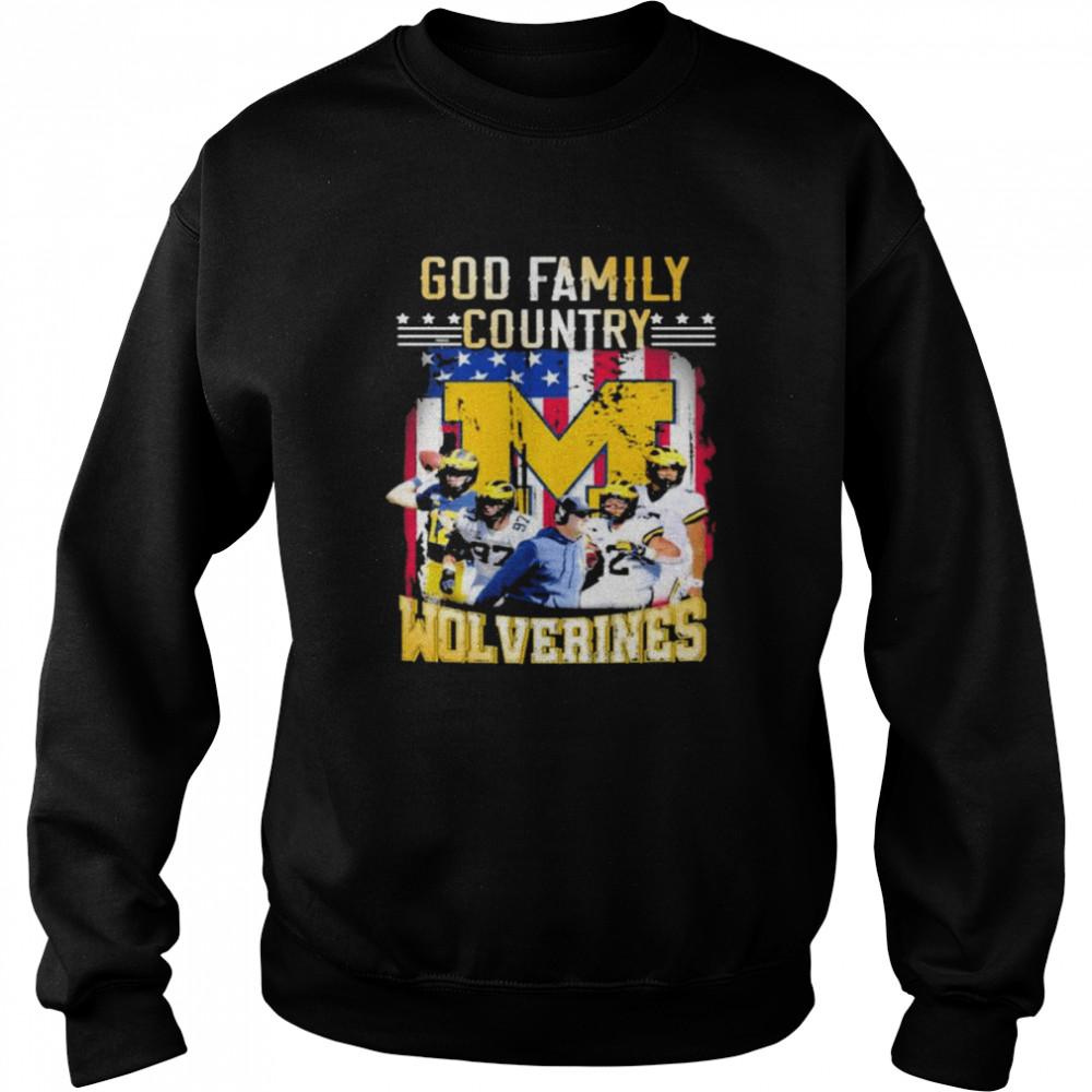 God family country Michigan Wolverines football shirt Unisex Sweatshirt