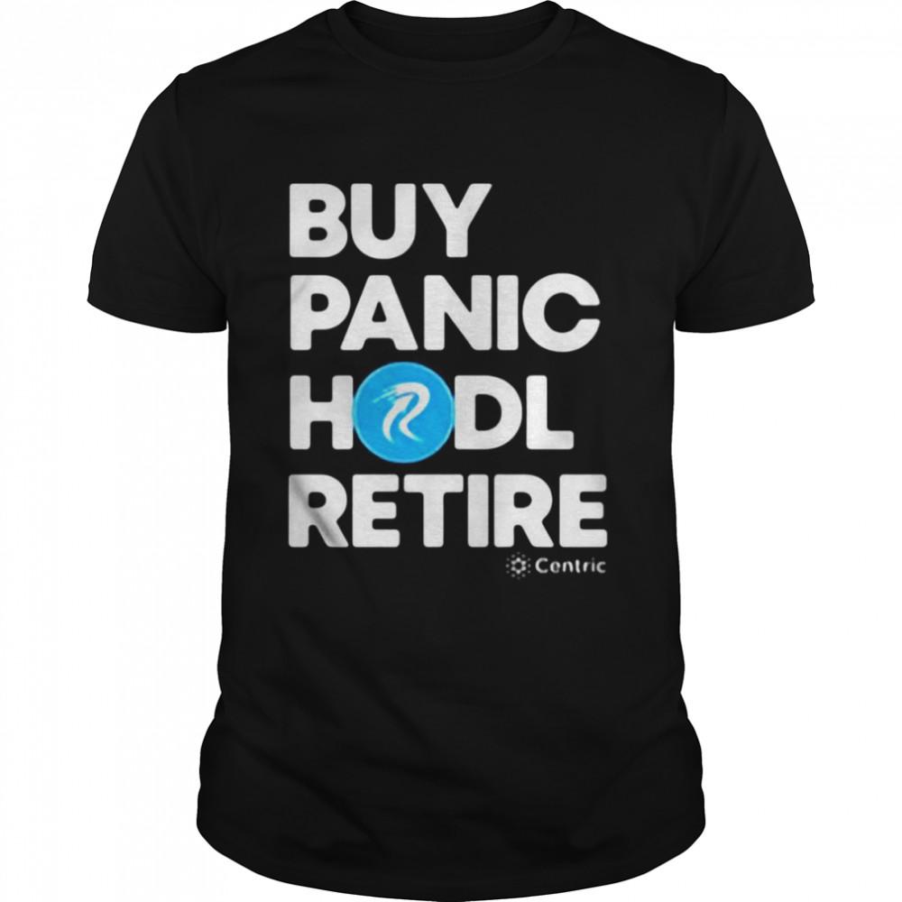 Buy Panic Hodl Retire Centric T-shirt Classic Men's T-shirt
