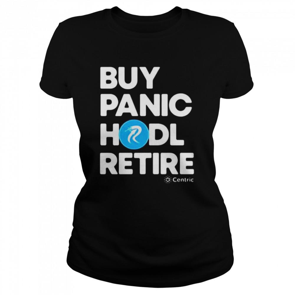 Buy Panic Hodl Retire Centric T-shirt Classic Women's T-shirt