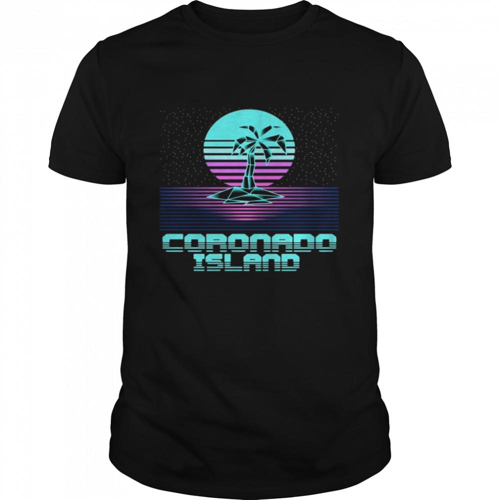Coronado Island CA Retro Vintage 80er Palme Souvenir T-shirt Classic Men's T-shirt