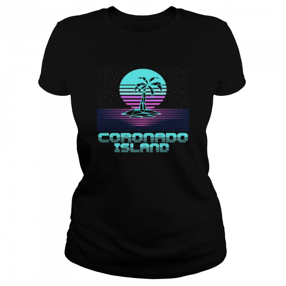 Coronado Island CA Retro Vintage 80er Palme Souvenir T-shirt Classic Women's T-shirt