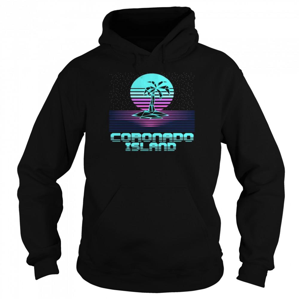 Coronado Island CA Retro Vintage 80er Palme Souvenir T-shirt Unisex Hoodie