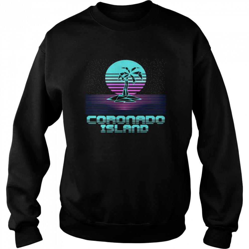Coronado Island CA Retro Vintage 80er Palme Souvenir T-shirt Unisex Sweatshirt