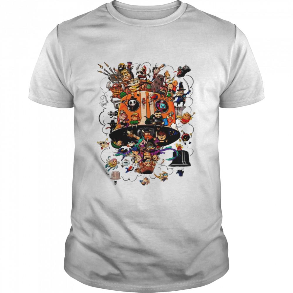 Crew Balloons Twitch subs group art shirt Classic Men's T-shirt