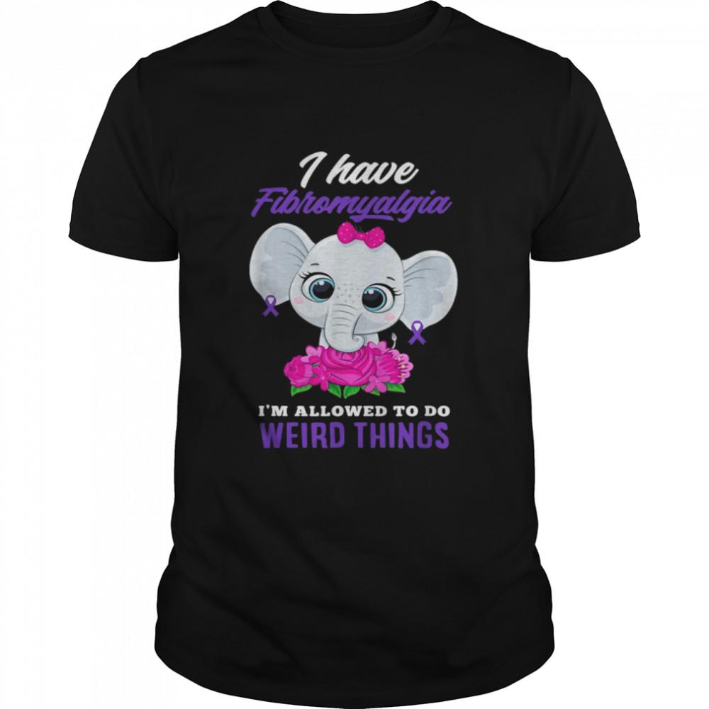 Elephant Cute I Have Fibromyalgia I'm Allowed To Do Weird Things T-shirt Classic Men's T-shirt