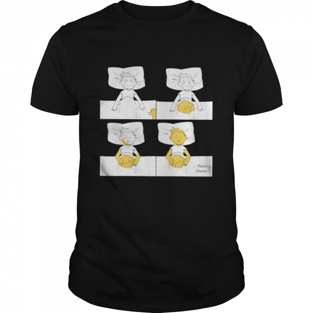 Healing power of cat funny shirt Classic Men's T-shirt