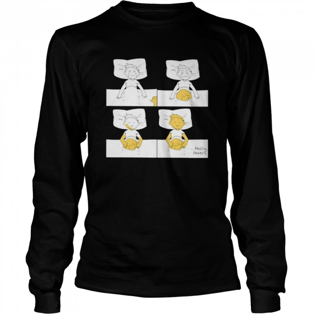 Healing power of cat funny shirt Long Sleeved T-shirt