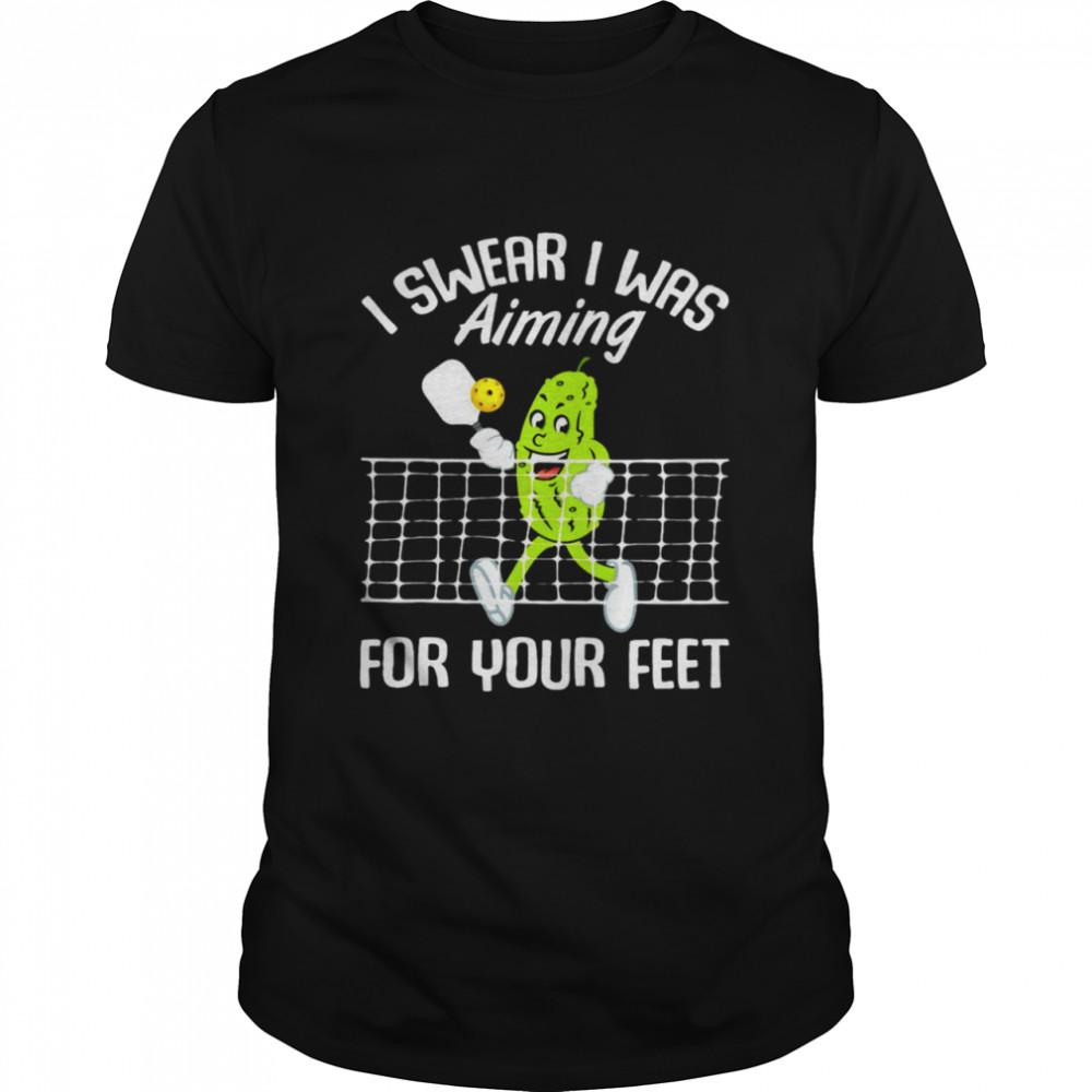 I Swear I Was Aiming For Your Feet T-shirt Classic Men's T-shirt