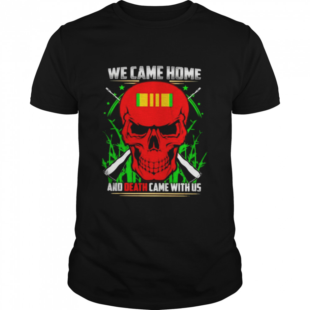 Red skull we came home and death came with us shirt Classic Men's T-shirt
