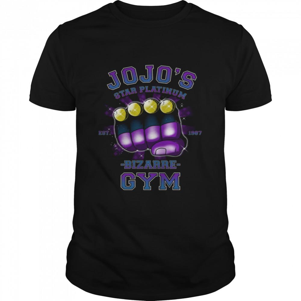 Top jojos star platinum bizarre gym est 1987 shirt Classic Men's T-shirt