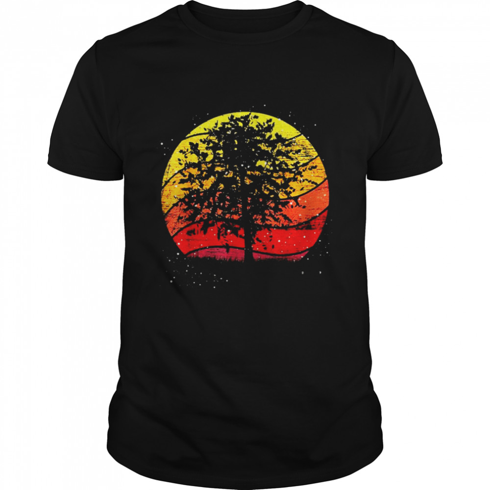Trees Outdoor Wild Nature Wildlife Forest Vintage Retro T-shirt Classic Men's T-shirt