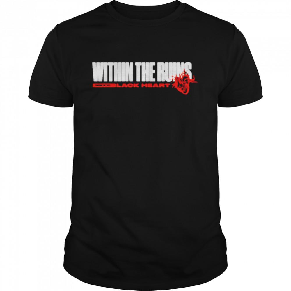 Within the ruins black heart shirt Classic Men's T-shirt