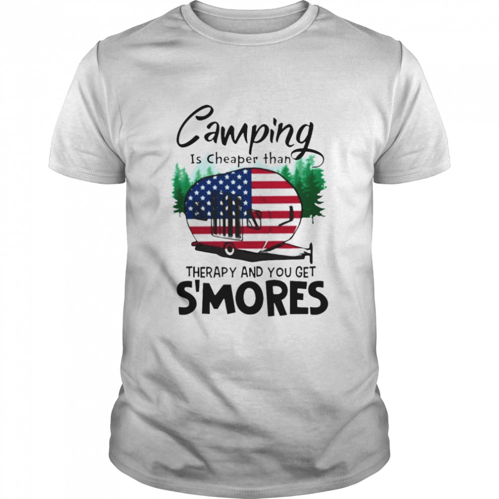 Camping Is Cheaper Than Therapy And You Get S'mores T-shirt Classic Men's T-shirt