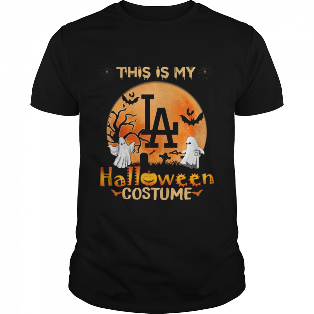 Los Angeles Dodgers Boos This is my Halloween Costume Moon shirt Classic Men's T-shirt
