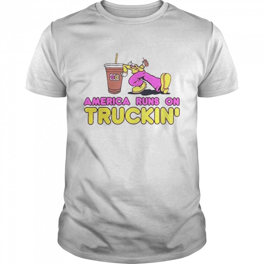 America Runs On Truckin' t-shirt Classic Men's T-shirt