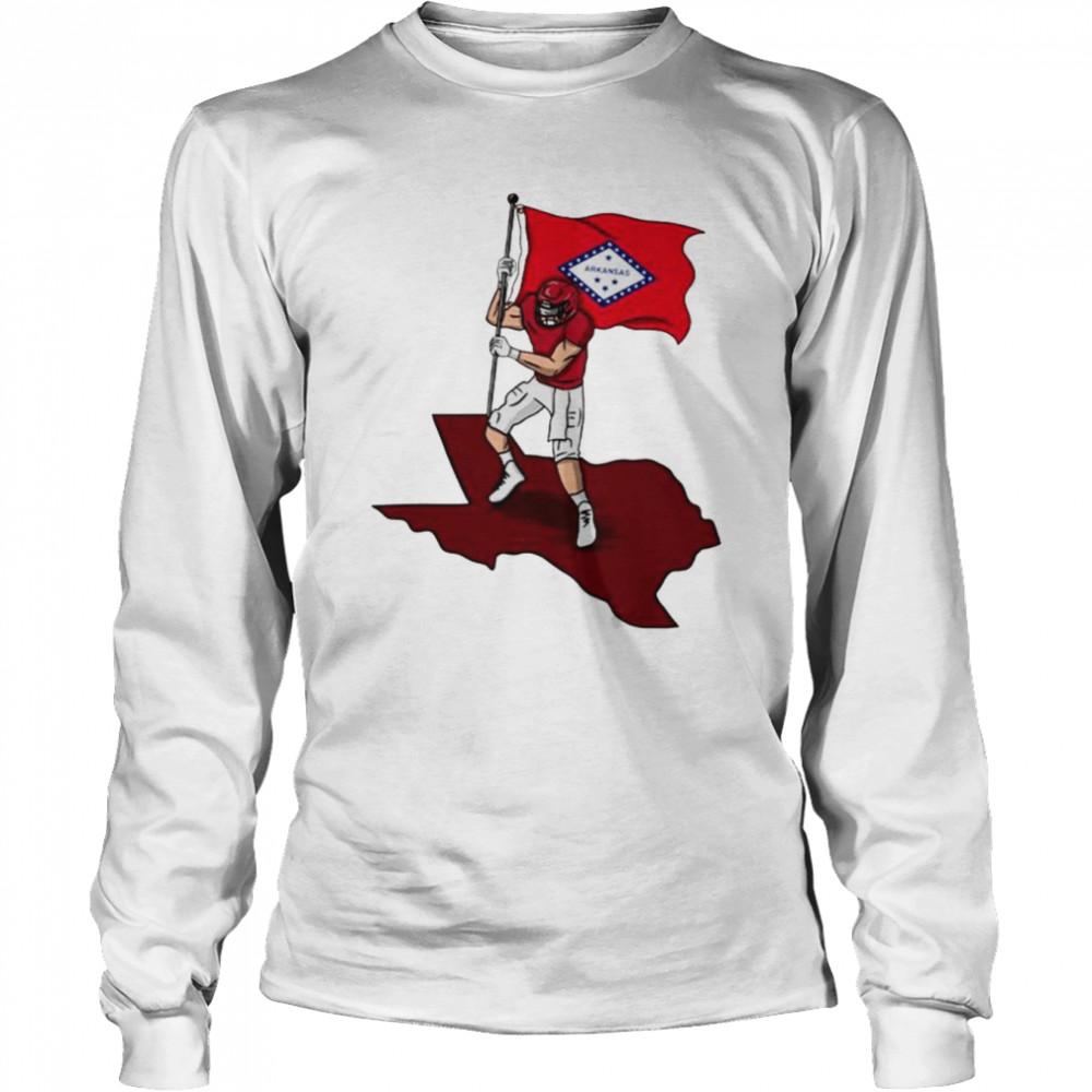 Ark Flag Crewneck  Long Sleeved T-shirt