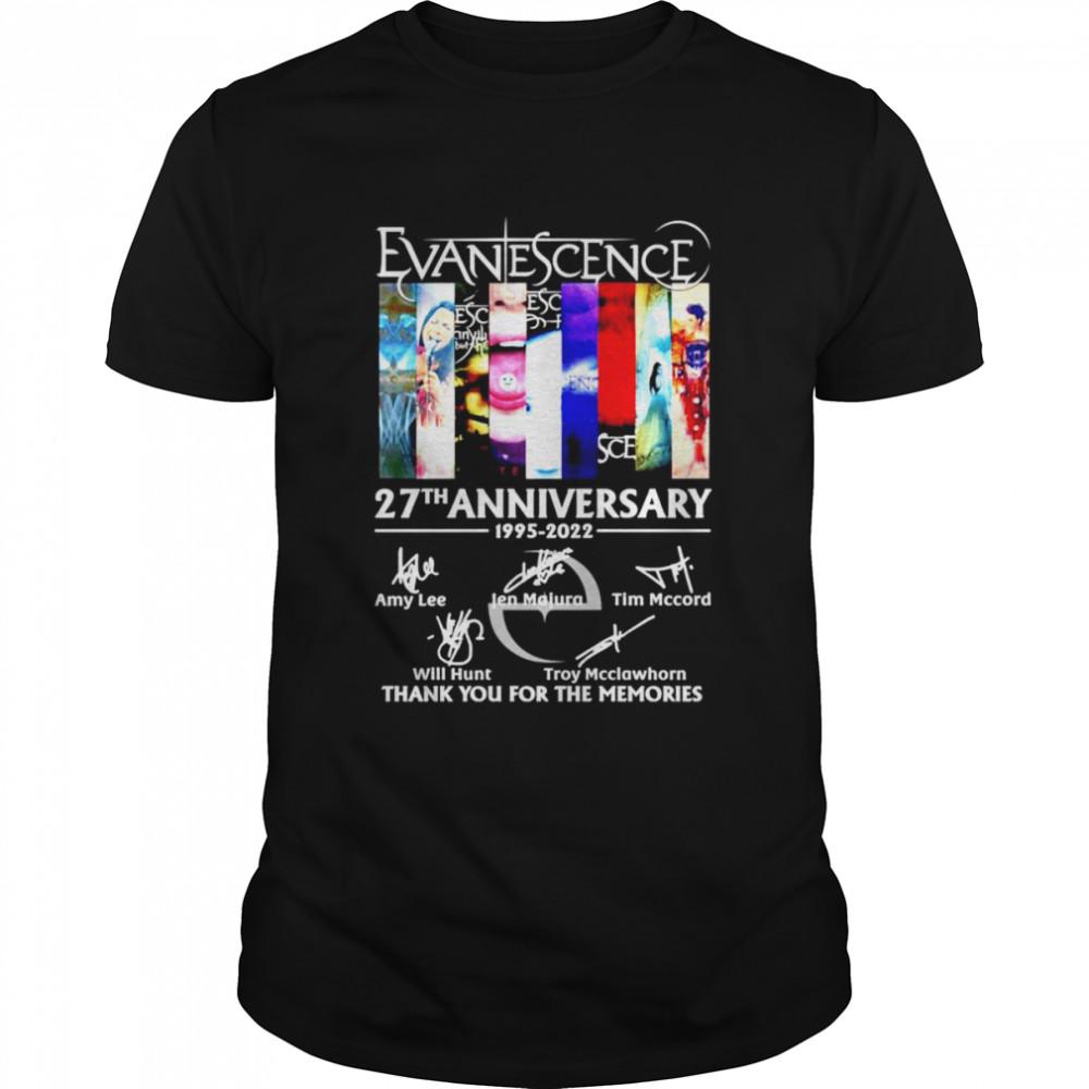 Evanescence 27th anniversary 1995-2022 signatures shirt Classic Men's T-shirt
