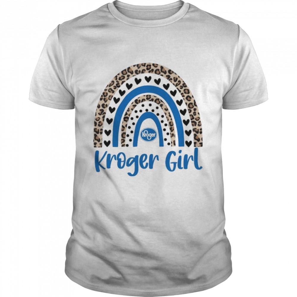 Leopard rainbow kroger girl shirt Classic Men's T-shirt