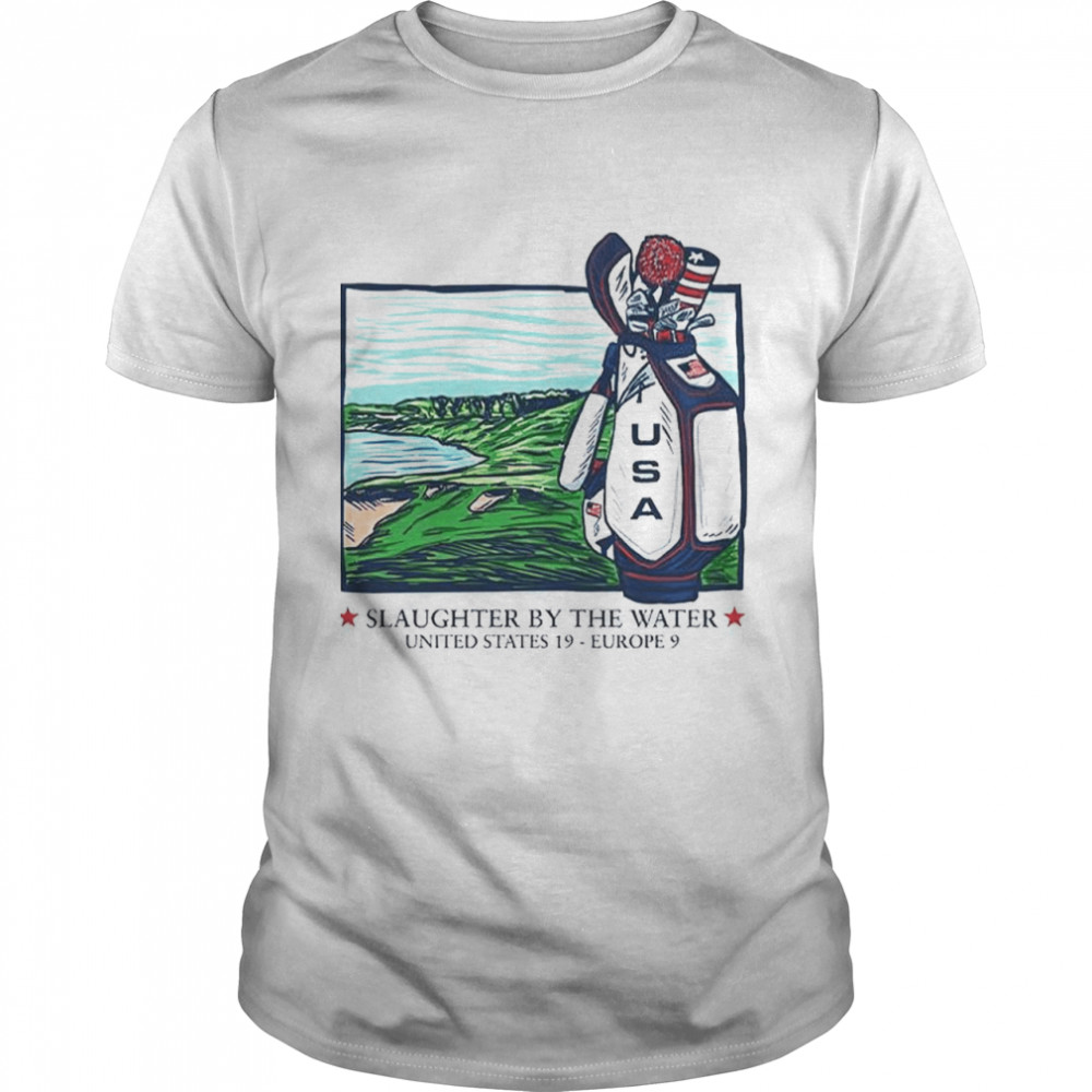 Slaughter by the water United States 19 Europe 9 USA golf shirt Classic Men's T-shirt
