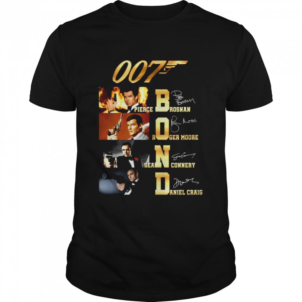 007t bond pierce brosnan roger moore sean connery daniel craig shirt Classic Men's T-shirt