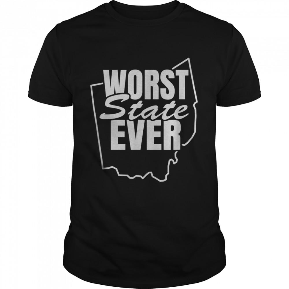 Worst State Ever Ohio  Classic Men's T-shirt