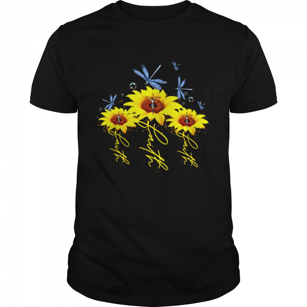 Faith three sunflower hot trending shirt