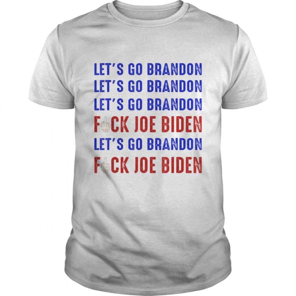 Lets Go Brandon Conservative Anti Liberal Biden Chant shirt Classic Men's T-shirt